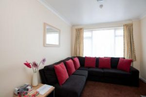 typical lounge seating at Beeches Holiday Lets