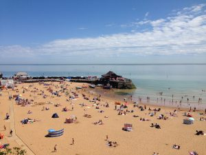 Broadstairs Viking Bay in summer