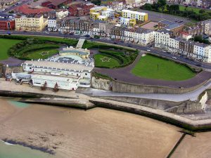 Margate Winter Gardens seen from above