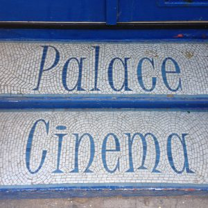 Palace Cinema mosaic entrance steps