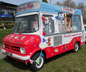 CURLY TOP VINTAGE ICE CREAM VAN