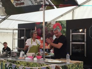Chetna Makan and Paul Hollywood at Broadstairs Food Festival 2014