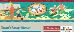 Beach Kids website home page image