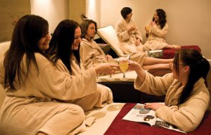 Girls enjoying a spa experience at Bannatynes Broadstairs