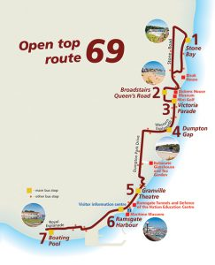Stagecoach 69 open top bus route map