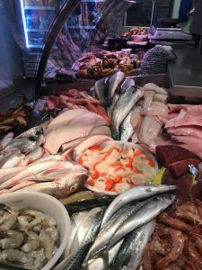 fresh wet fish display at fruit de mer in Broadstairs