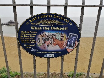 What the Dickens Digital Plaque Broadstairs Visit Thanet Beeches Holiday Lets blog